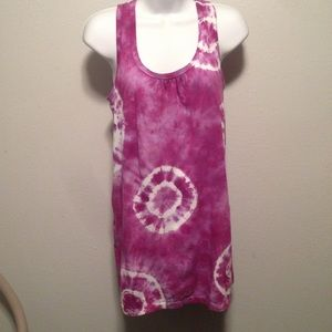 Dharma Trading Co. Pink Tie dyed mini dress #A3